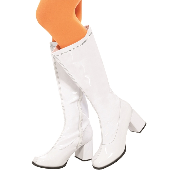 60s Ladies GoGo Boots - White: 6 - £39